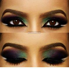 purple and green eyeshadow