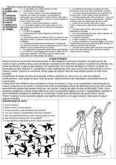 ATIVIDADES DIVERSAS CLÁUDIA: Atividades de arte sobre dança