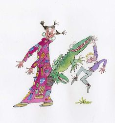 Quentin Blake Illustrations, Picture Editor, Roald Dahl, Crocodile, Gallery, Drawings, Artist, Artwork, Character