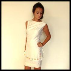Vintage 1960's White Silk Shift Dress by VUVintage on Etsy, $138.00
