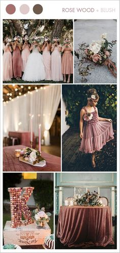 rose wood pink and blush fall wedding color ideas #weddingideas