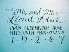 CT-Designs Calligraphy and Wedding Stationery: 8 Unique Calligraphy Addressing Options