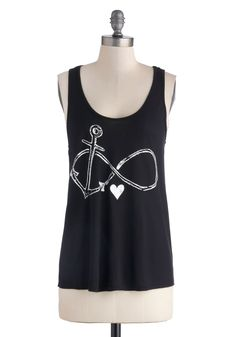 Falling Infinite Love Top. There are many symbols that can express the growing affection you've got for your friends - perhaps an anchor to signify your steadfast loyalty, a limitless infinity to represent the everlasting energy they inspire, and of course, a heart, the simplest and truest universal symbol for love!
