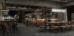 Renaissance Chicago Downtown Hotel Bar Render