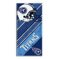 Tennessee Titans NFL Fiber Reactive Beach Towel (Diagonal Series) (28in x 58in)