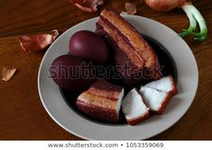 cooked in onion peel. prepared in onion skins. pork in onion peel. Side Pork Cooked in Onion Peel Recipe. Side Pork, Sides For Pork, Easter Eggs, French Toast, Cooking, Breakfast, Recipes, Food, Onion