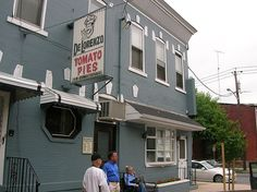 Trenton, NJ: DeLorenzo's Famous tomato pies, absolutely the best best best pies in the world. No kidding.