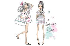 fashion illustration girls #activity