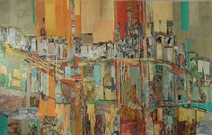 "Saatchi Online Artist: Georgette Fayolle; Paper, 2012, Mixed Media ""Verticals"""