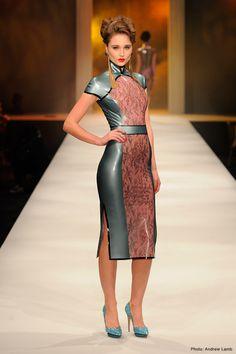 Latex dresses on the catwalk