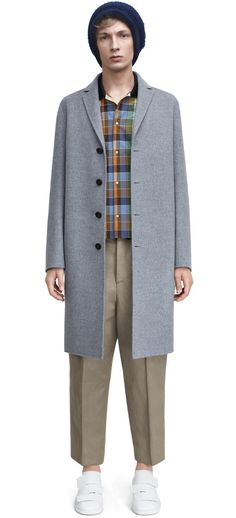 Charlie grey melange coat with suit jacket styling #AcneStudios #menswear #SS15