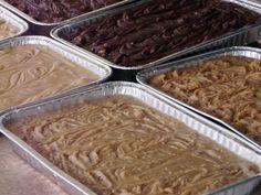 White Chocolate Walnut, Chocolate Walnut, and Maple Walnut Fudge Recipes