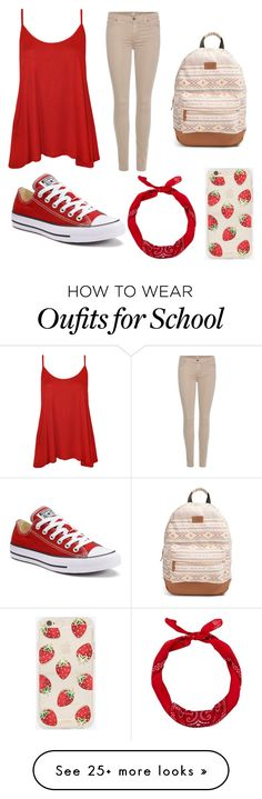 """First day of school"" by gretchenlover on Polyvore featuring WearAll, 7 For All Mankind, Converse, New Look, Sonix and Rip Curl"