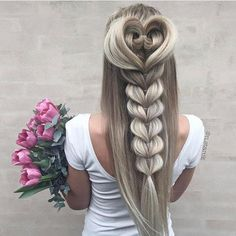 Heart blonde braid