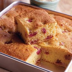 Strawberry-Rhubarb+Cornbread+Recipe+from+Land+O'Lakes