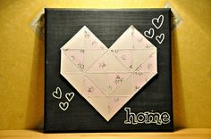 Triangle paper heart patchwork