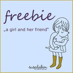 a girl and her friend (Freebie)
