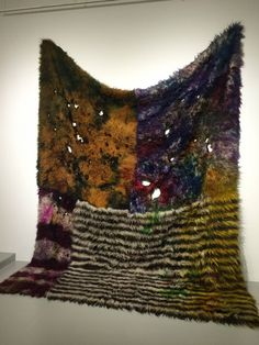 "Anna Betbeze, ""Playtime""(2015), wool, acid dyes, ash."