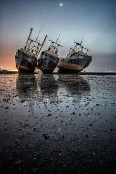 ♂ Aged with beauty - Abandoned rusty old ship - Topple at Rest. places where has on the things people abandoned. Abandoned Buildings, Abandoned Ships, Abandoned Places, Old Boats, Shipwreck, Belle Photo, Landscaping Ideas, Sailing, Scenery
