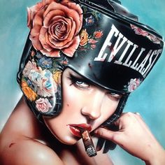 Stay 'Undefeated' DIRTYTROOPS! From epic sold out 'Matador' show  @thinkspace_art 2015 / NEW works coming to @scopeartshow this Dec. Take a sec & sign up for my official mailing list @ brianMviveros.com for updates! Stay EVILLAST My Friendzzz #fighter #vote #bleed #passion #boxer #cigar #arturofuente #brianmviveros #brianviveros #womenofpower #staystrong #rose #art #artist