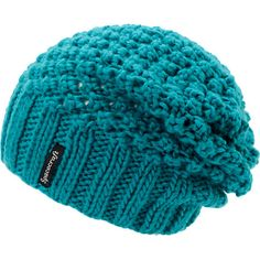 Instantly get a splash of color added to any outfit with the Spacecraft girls Stella teal knit slouch beanie. Warm up while looking your best in the soft acrylic teal colorway with a loose knit upper, thick ribbed knit hem, and a black Spacecraft logo tag embroidered on the hem.
