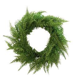 Fresh Picked Greens 23\u0027\u0027 Fern Wreath,