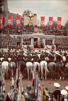 Berlin, 20 April 1939. Hitler's birthday color photos of World War II worldwartwo.filminspector.com