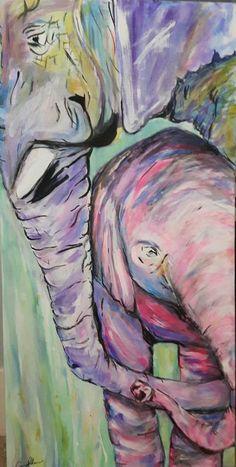 Elephant-kind by Carrie Kohan Carrie, Carry On, Elephant, Artwork, Painting, Work Of Art, Hand Luggage, Auguste Rodin Artwork, Carry On Luggage