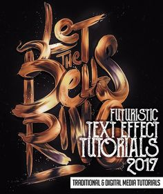 Futuristic Text Effect Adobe Photoshop & Illustrator Tutorials (25 Tuts) #3dtext #texteffect #texteffecttutorials #photoshoptutorials #typography