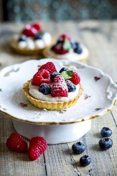 Tartaletky s lesnim ovocem