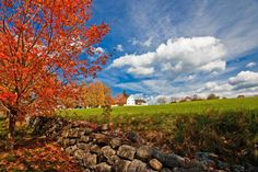 Fall foliage at Canterbury Shaker Village in Canterbury, New Hampshire last year.  Credit to NHDTTD.
