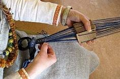 Tablet weaving on an inkle loom with playing cards. Description from pinterest.com. I searched for this on bing.com/images