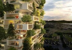 World's second vertical forest tower will rise in Switzerland La Tour des Cedres by Stefano Boeri Architetti – Inhabitat - Sustainable Design Innovation, Eco Architecture, Green Building Architecture Durable, Architecture Cool, Sustainable Architecture, Architecture Interiors, Sustainable Design, Vertical Forest, Vertical Gardens, Lausanne, Green Tower