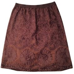 H&M brown ribbon skirt, size 8, side zip H&M brown ribbon skirt, size 8, side zipper, elastic waistband H&M Skirts Midi