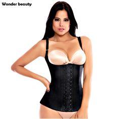 Wonder Beauty Hot Body Waist Shaper Vest 100%  Latex Waist Trainer Corset Women Fajas Reductors Plus Size Slimming Shapewear