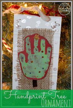 handprint tree ornament