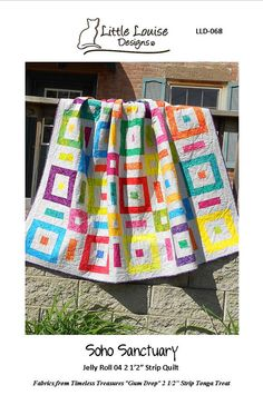 Quilt Pattern   PDF INSTANT DOWNLOAD  Soho by LittleLouiseQuilts, $9.00