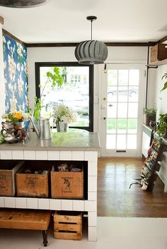 Sarah's cute flowershop on 9th and 9th. Go there, it will be one of your favorite spaces too.