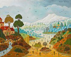 Biographie du peintre Alain THOMAS Alain Thomas, Paradis, Illustration, Painting, Inspirational, Colorful, Vintage, Naive Art, Zentangle Drawings