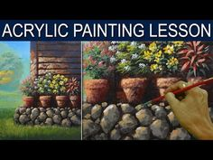 Beside the House in Basic Step by Step Acrylic Landscape Painting Tutorial by JM Lisondr - YouTube