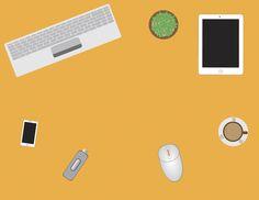 Paperless Office Desktop by Tigerpix Images  on Creative Market