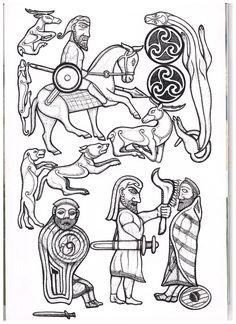 Pictish stone carving Ancient Tattoo, Norse Tattoo, Viking Tattoos, Magic Symbols, Celtic Symbols, Celtic Art, Irish Mythology, Pagan Art, Art Society