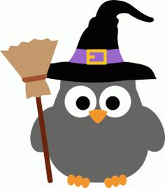 Silhouette Online Store -  Design #66986:  owl witch halloween by StudioIlustrado
