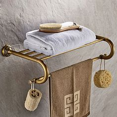 Antique Brass-Plated finishing Brass Material Bathroom Shelf 5499306 2017 – $62.99 Small Bathroom Redo, Bathroom Shelves, Brass Bathroom, Brass Material, Bathroom Accessories, Antique Brass, Plating, Shelf, Antiques