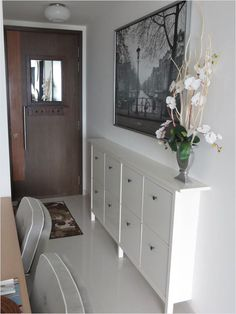 Narrow Hallway Cabinet Furniture Large Size Picture Of A An Open Floor Plan House Ikea Hemnes Shoe Cabinet, Cabinet Furniture, Shoe Cabinet Design, Laminate Furniture, Hallway Cabinet, Entryway Shoe Storage, Shoe Storage By Front Door, Shoe Storage Ikea Hack, Home Decor Ideas
