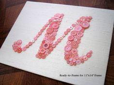 Button Monogram Letter Art