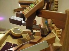 Marble Machine; cranking and movement starts at 0:40 sec