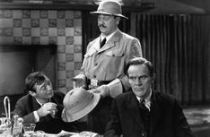 Peter Lorre, John Alexander and Raymond Massey in Arsenic and Old Lace directed by Frank Capra, 1944