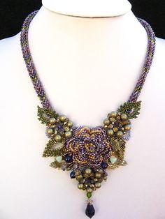 Violet Treasure necklace by Cielo Design, via Flickr