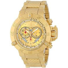 Invicta Men's 5403 'Subaqua' Goldplated Stainless Steel Chronograph Watch - Overstock Shopping - Big Discounts on Invicta Invicta Men's Watches